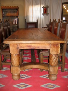 Custom Dining Tables Made From Antique Mexican Doors And Ox Yokes