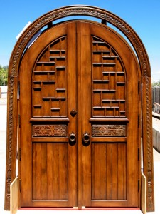 Solid interior doors made from antique Mexican doors