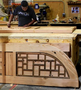Hand crafted doors in progress