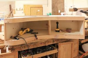 Piano-shaped Cabinet