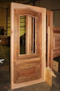 9945-01-Door in wood shop