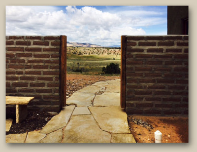 Site for entry gate in Abiquiu, New Mexico